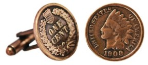 American Coin Treasures Indian Head Coin Cuff Links