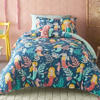 Kas Kids Sirena Quilt Cover Set with Mermaids, Seahorses and Fish Double Bed