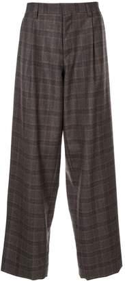 Kolor oversized plaid trousers