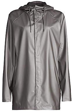 Rains Women's Short Metallic Coat