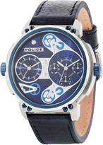 Police Gents Blue Leather Strap Watch