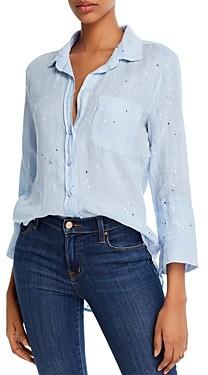Bella Dahl Paint-Splattered Linen Shirt