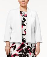 Kasper Plus Size Shawl-Collar Blazer