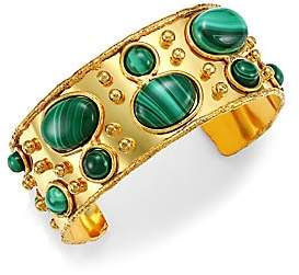 Sylvia Toledano Women's Byzance 22K Goldplated & Malachite Cuff