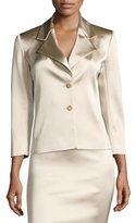 The Row Noycan Satin Two-Button Jacket