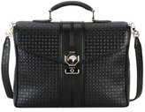Stefano Ricci Small Stamped Leather Document Case, Black
