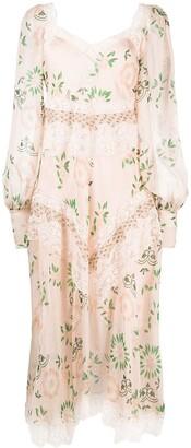 Ermanno Scervino Floral-Print Maxi Dress