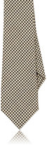 Alexander Olch MEN'S MICRO-HOUNDSTOOTH COTTON NECKTIE