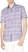 John Varvatos Plaid Slim Fit Button-Down Shirt