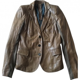 Patrizia Pepe Brown Leather Jacket for Women