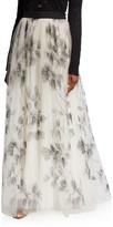 Brunello Cucinelli Tulle Embroidered Maxi Skirt