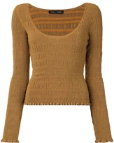Thumbnail for your product : Proenza Schouler Scoop Neck Smocked Knit Top