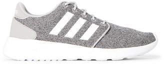 adidas Clear Onix & White Cloudfoam QT Racer Knit Running Sneakers