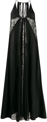 Stella McCartney Lace Panels Long Dress