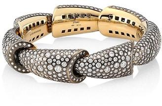 Vhernier Calla 18K White Gold Palladium, Titanium & Diamond 7-Element Cuff Bracelet