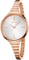 Calvin Klein Women's Swiss Lively Rose Gold-Tone PVD Stainless Steel Bracelet Watch 34mm K4U23626