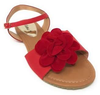 Victoria K Women's Solid Flower Sandals