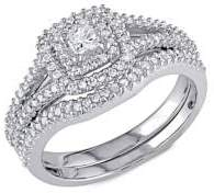 Sonatina 2-Piece Sterling Silver & 0.5 TCW Diamond Split Shank Bridal Ring Set