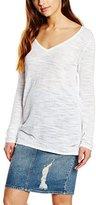 Calvin Klein Jeans Women's Calif Cotton Slub Vn L/s Sweater,L