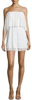 T-Bags LosAngeles T Bags Strapless Lace Mini Dress, Ivory