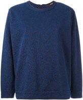 Odeeh patterned sweatshirt - women - Cotton/Elastodiene/Polyamide/Polyester - 36