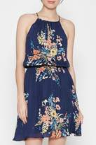 Joie Floral Blue Silk Dress