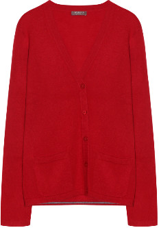 10per3 - Red Cashmere V Neck Cardigan - cashmere | red | s - Red/Red
