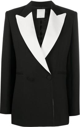 Sandro Marel contrast-lapel tailored jacket