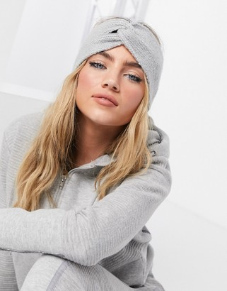 Accessorize headband in soft knit grey