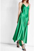 DKNY Satin Dress with Asymmetric Hemline