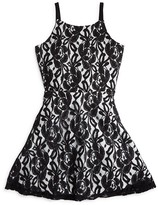 Sally Miller Girls' Flared Lace Dress - Sizes S-XL