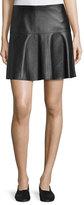 Vince Lamb Leather Pleated Skirt
