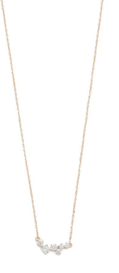 Adina 14k Gold Scattered Diamond Necklace