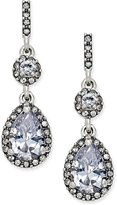 Charter Club Silver-Tone Cubic Zirconia Pear Drop Earrings, Only at Macy's