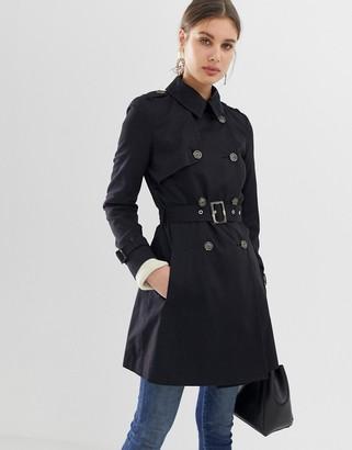 Asos Design DESIGN trench coat-Black
