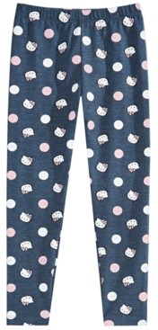 Hello Kitty Little Girls Dot-Print Leggings