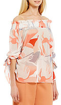 Lucy Paris Off-the-Shoulder Printed Blouse