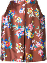 DELPOZO A-line floral print skirt