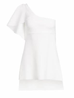 Chiara Boni Clarisse One-Shoulder Peplum Top