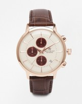 Accurist Chronograph Brown Stainless Steel Watch