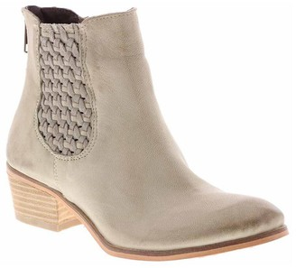 Sbicca Woven Detail Leather Booties - Ferree