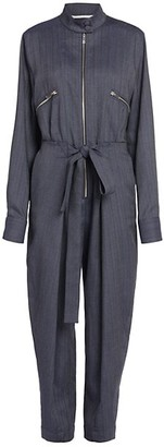 Stella McCartney Brielle Pinstripe Denim All-In-One Jumpsuit