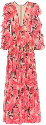 Costarellos Floral gown