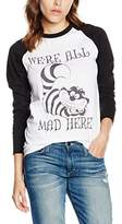 Disney Women's Alice In Wonderland We're All MAD Here T-Shirt,(Manufacturer Size:X Large)