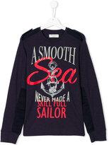 John Galliano Teen nautical print sweatshirt
