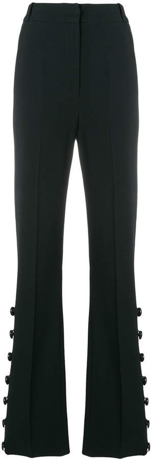 David Koma flared button trousers