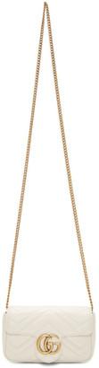 Gucci White Super Mini GG Marmont Bag