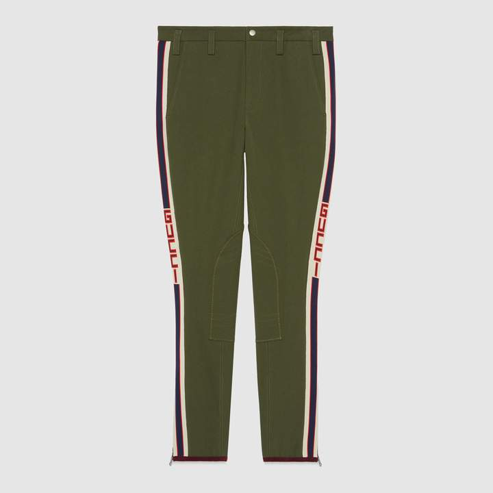 Gucci Gabardine pant with stripe