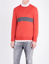 Brunello Cucinelli Striped-knit wool and cashmere-blend jumper