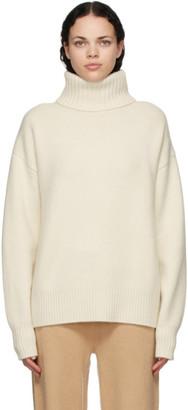 Extreme Cashmere Off-White Cashmere Oversize Xtra Turtleneck